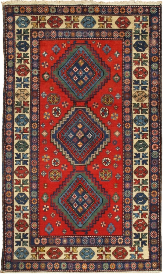 Antique Kazak – 15772 - Glen Cove Rug
