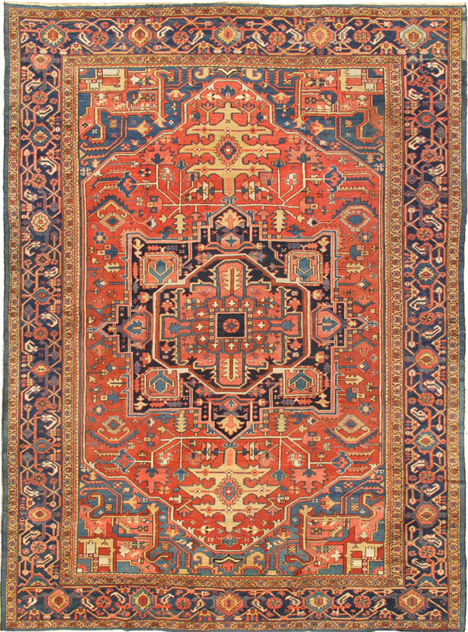 Antique Serapi 36033 Glen Cove Rug